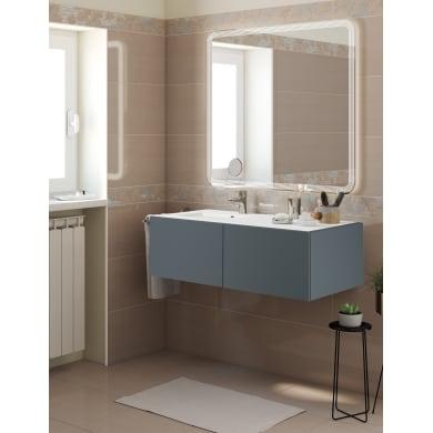 Set mobile da bagno con lavabo Neo3 grigio L 120 cm