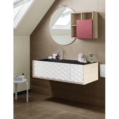 Set mobile da bagno con lavabo Neo3 bianco L 120 cm