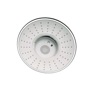 Soffione doccia Mozart Ø 22 cm in abs cromo e bianco cromato