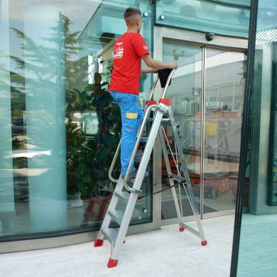 Scala FARAONE in alluminio 8 gradini per lavori fino a 3.55 m