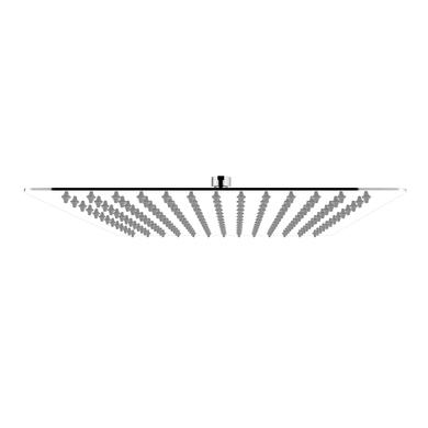 Soffione doccia Fani 30 30 x 30 cm in inox cromato SENSEA