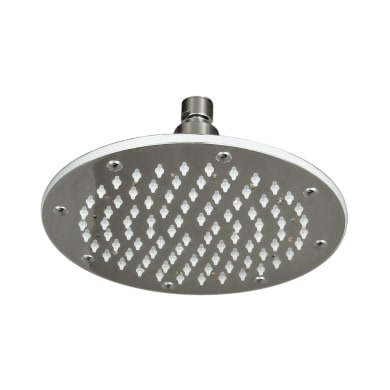 Soffione doccia Round Led Ø 20.5 cm in ottone cromo cromato
