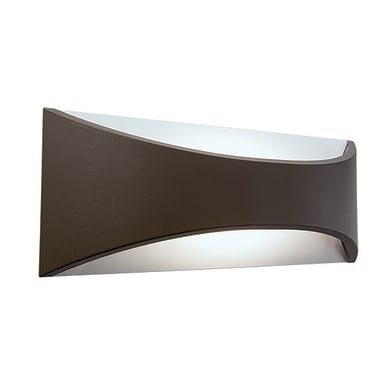Applique Moon LED integrato in alluminio, cioccolato, 6W 320LM IP65