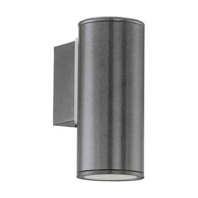 Applique Riga   in acciaio galvanizzato, antracite, 3W 240LM IP44 EGLO