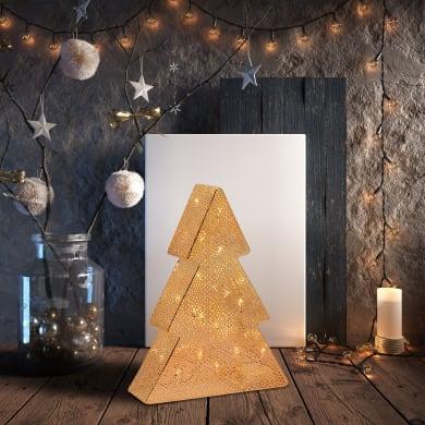 Albero luminoso 24 lampadine bianco caldo