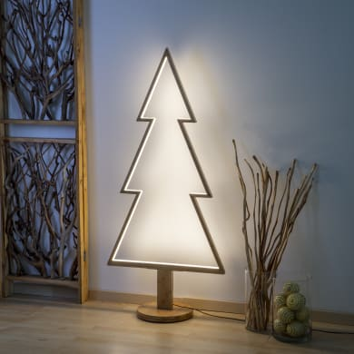 Albero luminoso bianco caldo H 170 cm