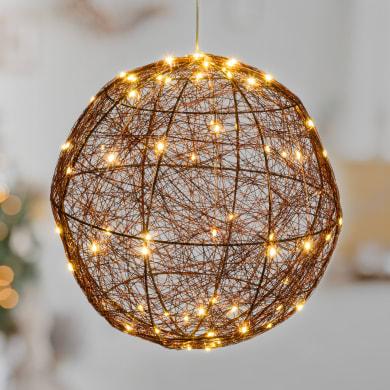 Decorazione 160 lampadine LED bianco caldo Sfera 0.3 m