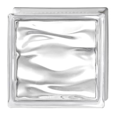 Vetromattone BORMIOLI Agua trasparente lucido H 19 x L 19 x Sp 8 cm