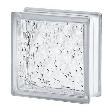Vetromattone Bolle trasparente lucido H 19 x L 19 x Sp 8 cm
