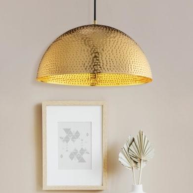 Lampadario Glamour Barron oro in ottone, D. 40 cm, BRILLIANT