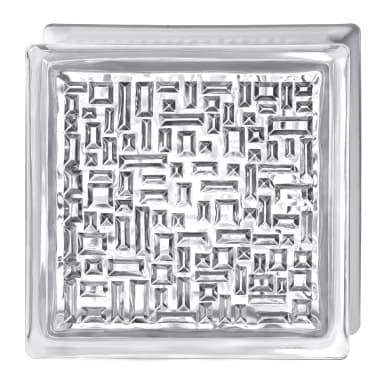 Vetromattone BORMIOLI Geometrico trasparente lucido H 19 x L 19 x Sp 8 cm