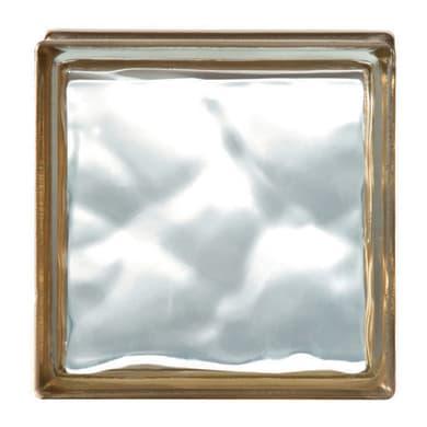 Vetromattone BORMIOLI oro ondulato H 19 x L 19 x Sp 8 cm