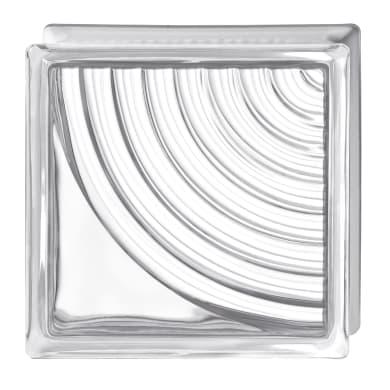 Vetromattone trasparente lucido H 19 x L 19 x Sp 8 cm