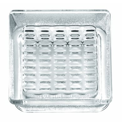 Vetromattone trasparente lucido Pedonabile H 14.5 x L 14.5 x Sp 5.5 cm