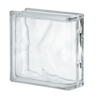 Vetromattone trasparente double face H 19 x L 19 x Sp 8 cm