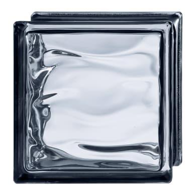 Vetromattone nero lucido H 19 x L 19 x Sp 8 cm