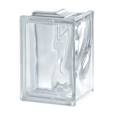 Vetromattone SEVES BASIC Angolare trasparente ondulato H 19 x L 13.2 x Sp 8 cm