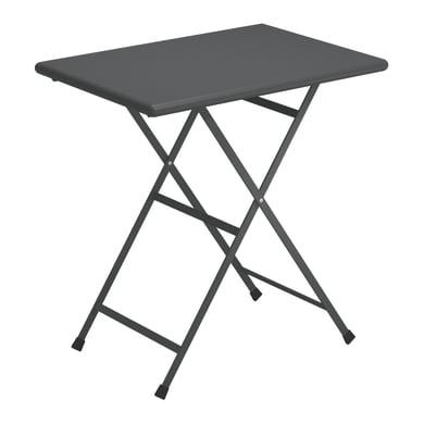 Tavolino da giardino rettangolare Cassis con piano in acciaio L 50 x P 70 cm