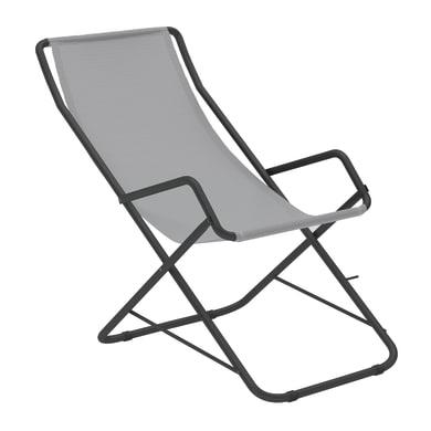 Sdraio pieghevole in acciaio Relax colore grigio