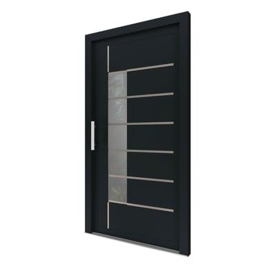 Portoncino d'ingresso Domus grigio L 90 x H 210 cm sinistra