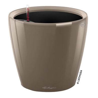 Vaso Classico Premium 50 LS - Tortora Lucido LECHUZA in polipropilene tortora H 47 Ø 50 cm