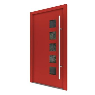 Portoncino d'ingresso Optimus rosso L 90 x H 210 cm sinistra