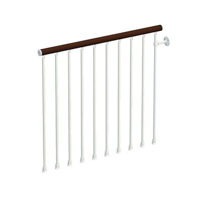 Balaustra Ring in legno faggio e metallo bianco L 1200 mm H 1000 mm