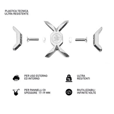 Sistema di assemblaggio playwood Cross in pvc  , grigio