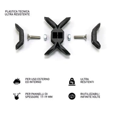 Sistema di assemblaggio playwood Cross in pvc  , nero