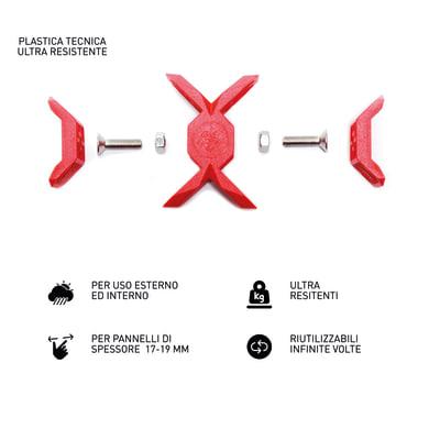 Sistema di assemblaggio playwood Cross in pvc  , rosso