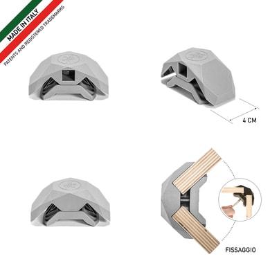 Sistema di assemblaggio playwood 90° in pvc  , grigio