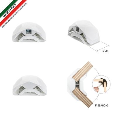 Sistema di assemblaggio playwood 90° in pvc  , bianco