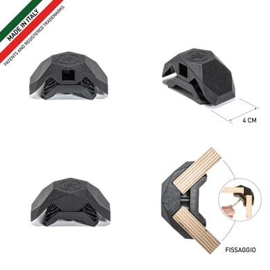 Sistema di assemblaggio playwood 90° in pvc  , nero