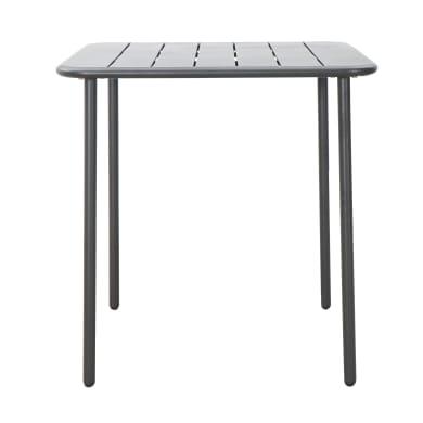 Tavolo da giardino quadrato con piano in metallo L 70 x P 70 cm