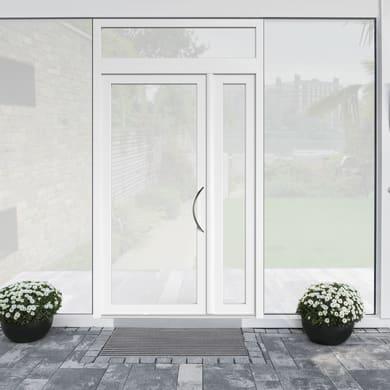Portoncino d'ingresso Condo17 bianco L 132 x H 250 cm sinistra
