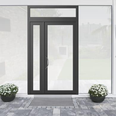 Portoncino d'ingresso Condo19 grigio L 132 x H 250 cm destra