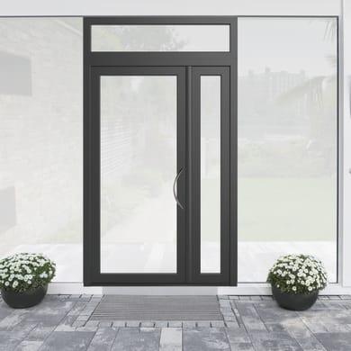 Portoncino d'ingresso Condo19 grigio L 132 x H 250 cm sinistra