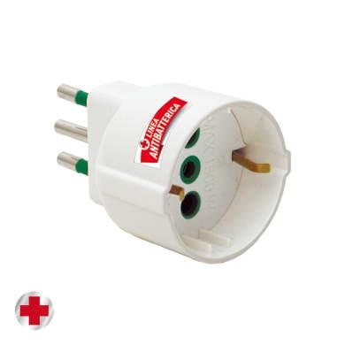 Adattatore FANTON antibatterico Schuko 10 A bianco