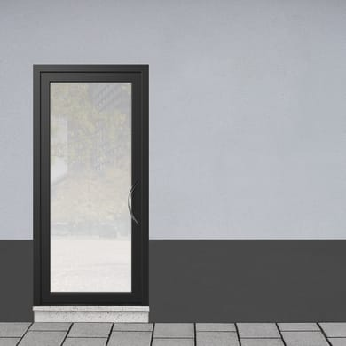 Portoncino d'ingresso Condo4 nero L 90 x H 210 cm sinistra