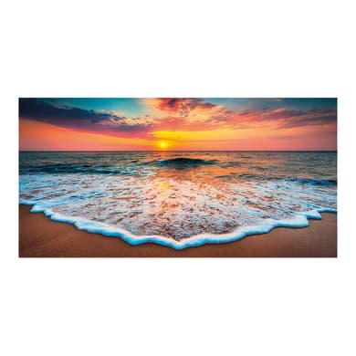 Quadro su tela Tramonto in spiaggia 140x70 cm