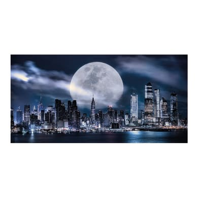 Quadro su tela Luna piena su NY 140x70 cm