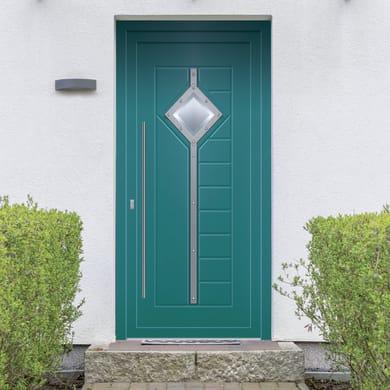 Portoncino d'ingresso Modern2 blu L 90 x H 210 cm destra