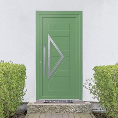 Portoncino d'ingresso Modern3 verde L 90 x H 210 cm destra