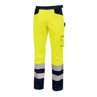 Pantaloni ad alta visibilità U-POWER Light giallo fluo tg 4XL