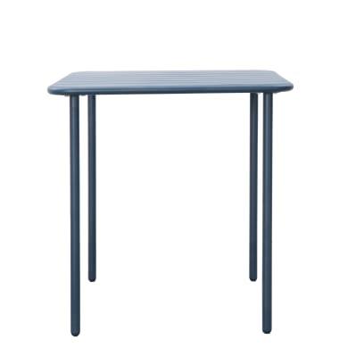 Tavolo da giardino quadrata Cafe con piano in metallo L 70 x P 70 cm