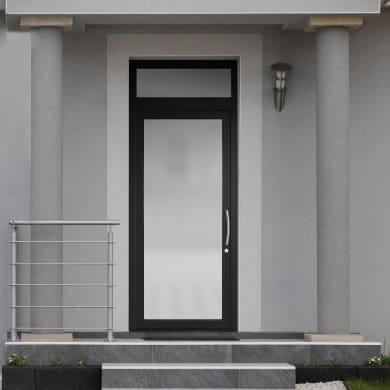 Portoncino d'ingresso Condo16 nero L 90 x H 250 cm sinistra