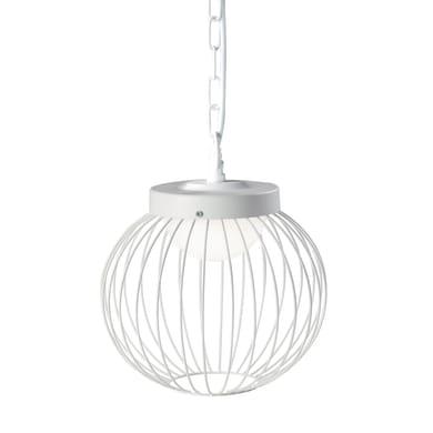 Sospensione Cage LED integrato  in alluminio, bianco, 20W 1700LM IP65 SOVIL