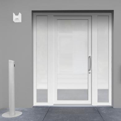 Portoncino d'ingresso Condo9 bianco L 170 x H 210 cm sinistra