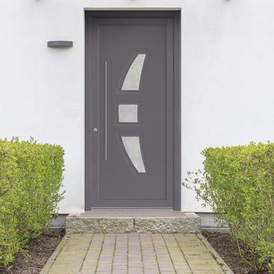 Portoncino d'ingresso Modern3 grigio L 90 x H 210 cm destra