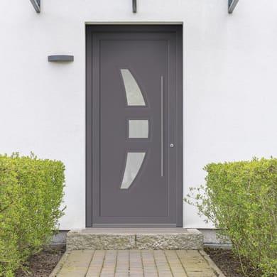 Portoncino d'ingresso Modern3 grigio L 90 x H 210 cm sinistra